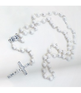 Metal Rosary Beads Large Sanded