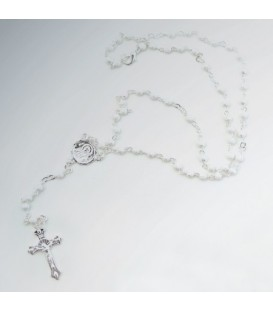 Average Sandblasted Grains Metal Rosary