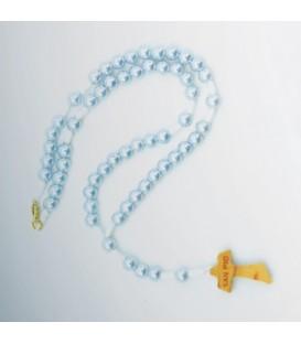 Chapelet perle d'Ivoire Celeste, rose,
