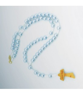 Pearl Rosary with Celeste, pink, ivory