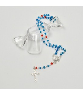 Rosary in candy box Venetian smalt