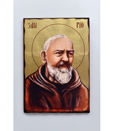 ICON IN WOOD OF SAN PIO