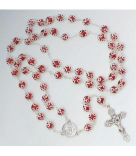 Rosaire avec tasses en verre