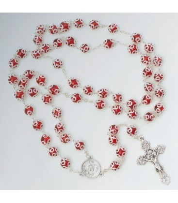 Rosenkranz mit Glas-Becher