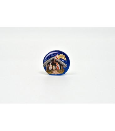 ROUND MAGNET NATIVITY