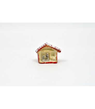 SILVER MAGNET NATIVITY ' EN STABLE AU FOUR DE PEINTURE