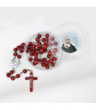 Rosaire parfumé avec tasses en boîtes rondes