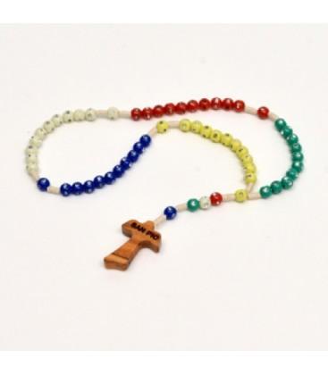 Rosario misionero con diamantes de imitación