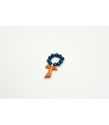Small rosary wooden painted
