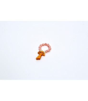 Pink Small Rosary with strass