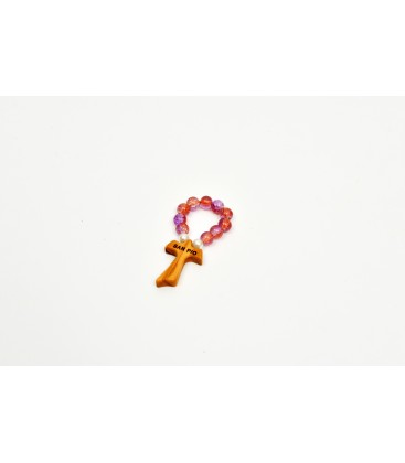 Small Rosary In Glass Orange