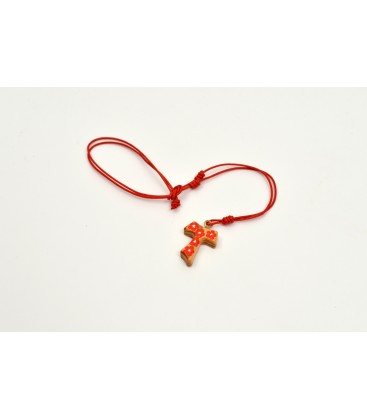 Necklace Tau Hand Painted Orange