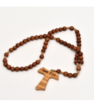 Ribbed wooden Rosary