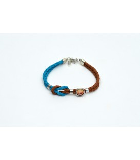 BRACELET LEATHER WITH MEDAL