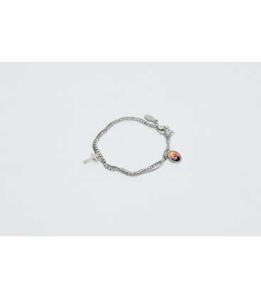Double wire Armband mit Strass
