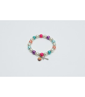 Bangle Bracelet multicolor pearls