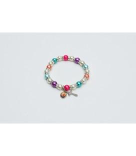 Perlas brazalete pulsera multicolor