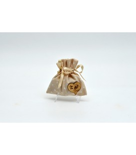 SAN PIO SCENTED BAG WITH HEART IN WOOD