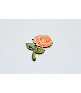 MAGNET ROSE SHAPE WITH PICTURE SAN PIO