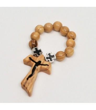 Decina legno e croci celtiche