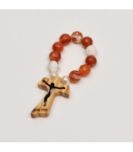 Small Rosary in Hard Stone with Tau